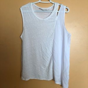 RACHEL Rachel Roy Tops - RACHEL RACHEL ROY WHITE SLEEVELESS TOPS SIZE XL